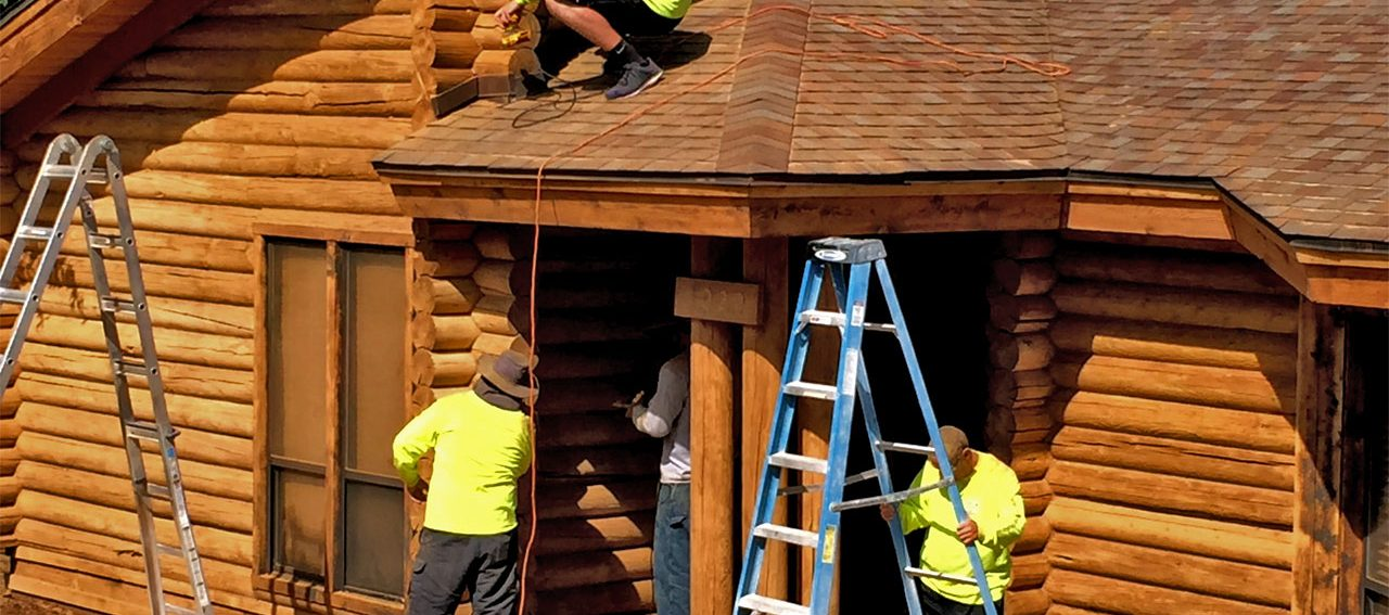 Cabin maintenance miracle maintenance for Log cabin restoration